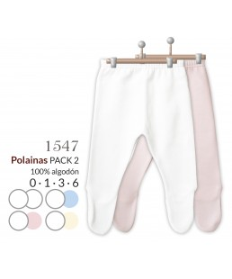 Pack 2 polainas lisa T/ 0 a 6